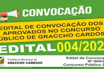 EDITAL DE CONVOCAÇÃO Nº 004/2020