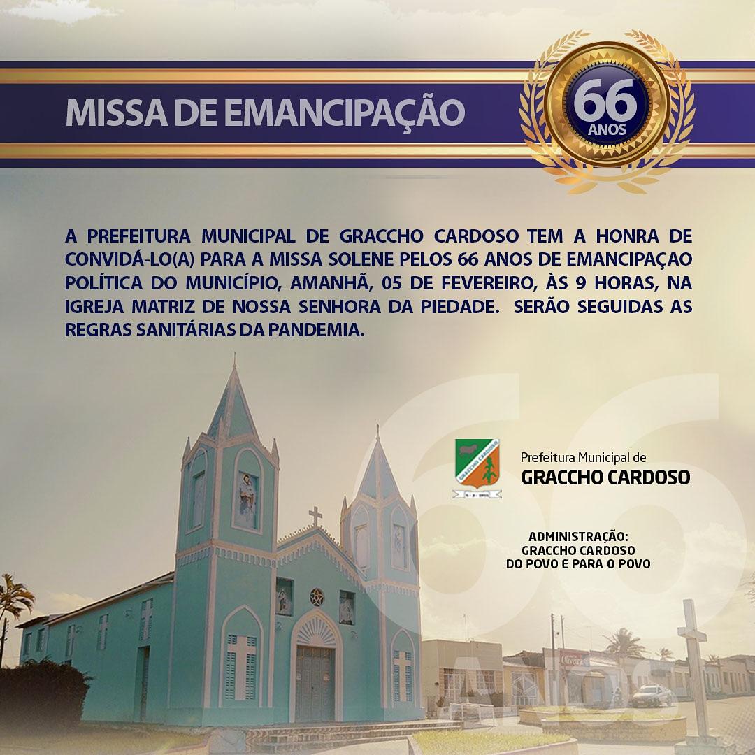 Parabéns Graccho Cardoso